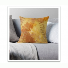 Throw Pillow - Ragusa /Fire Gold