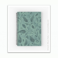 Spiral Notebook - Wandering Vine /Woodland Green