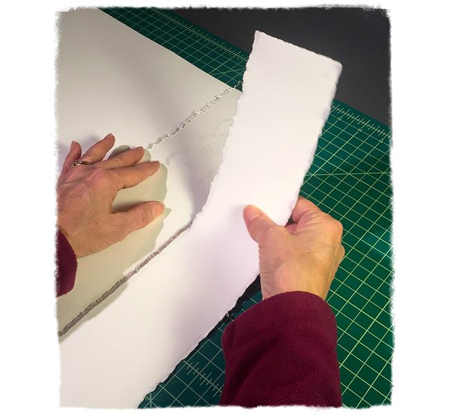 Deckling paper edges
