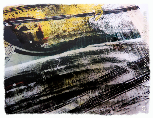 Mixed Media Work In Progress by Lynn Nafey
