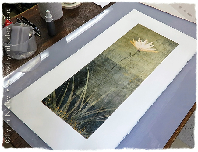 "The pigment transfer print of ""Rising"" is complete."