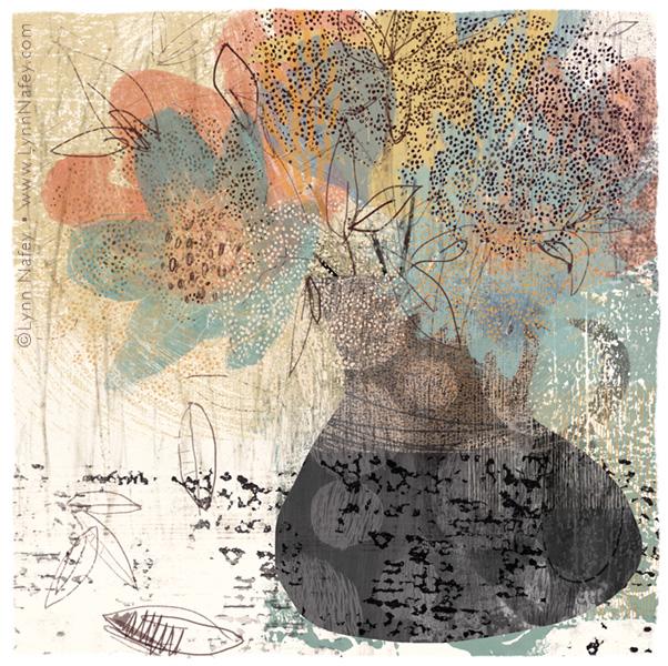 Falling 2 - Floral Art Print By Lynn Nafey