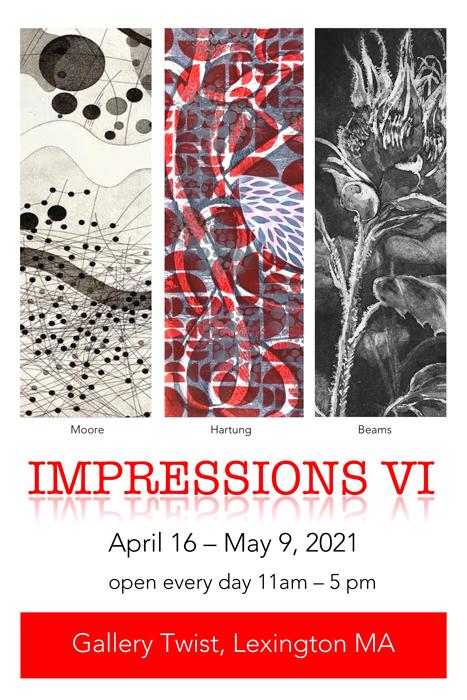 Postcard - Gallery Twist - Impressions VI - 6th Annual Printmaking Show