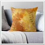 Throw pillow featuring artwork by Lynn Nafey
